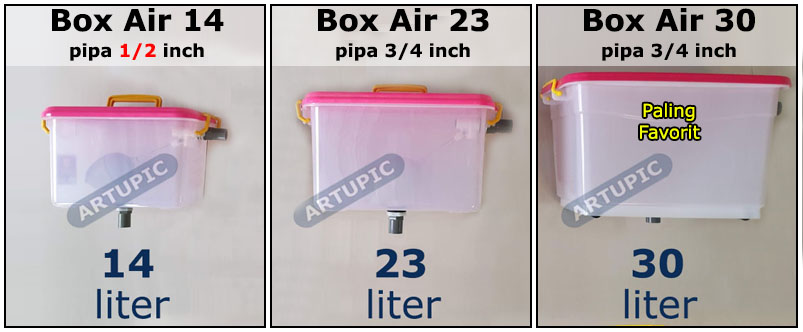 Box Air 14 23 dan 30 liter