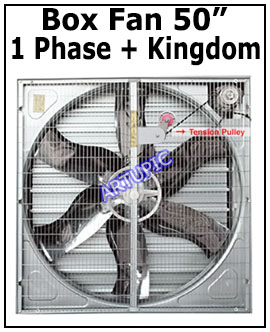 Box Fan 50 inch 1 Phase Motor Kingdom