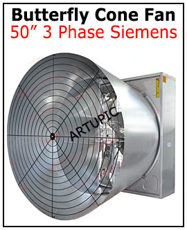 Butterfly cone fan 3 phase Siemens