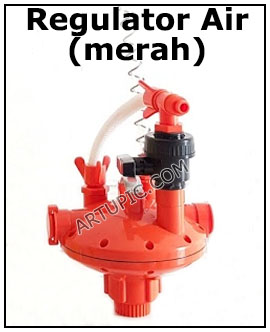 Regulator Air Merah Artupic