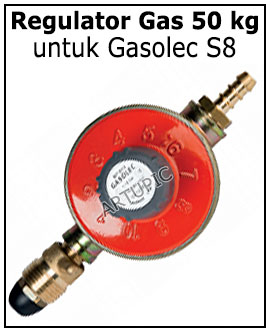 Regulator gas 50 kg Gasolec