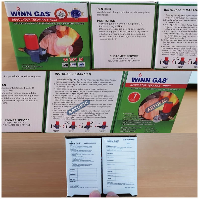 winn gas regulator tekanan tinggi w181nm