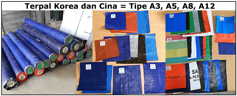 Terpal Korea Cina Diamonds Golden